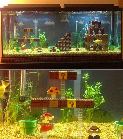 Mario Brothers Aquarium Decorations by Mario Bros Fish Aquarium Might Be Coolest