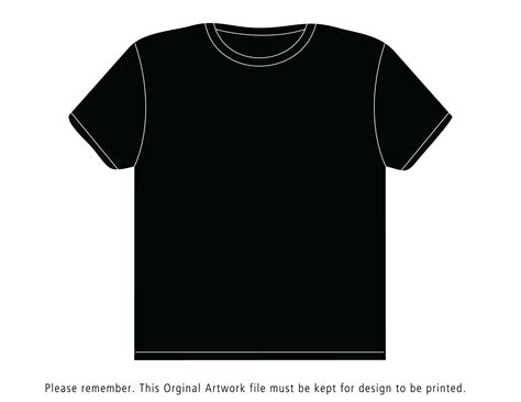 Shirt Design Template Black T Shirt Template
