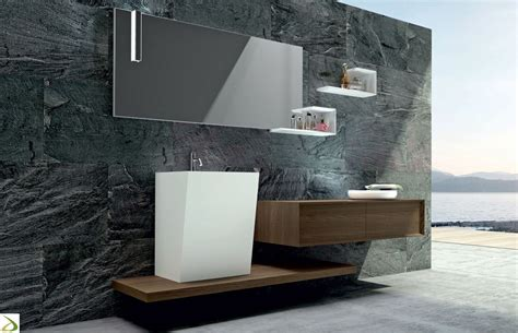 arredi da bagno bagno con lavabo in appoggio venus arredo design
