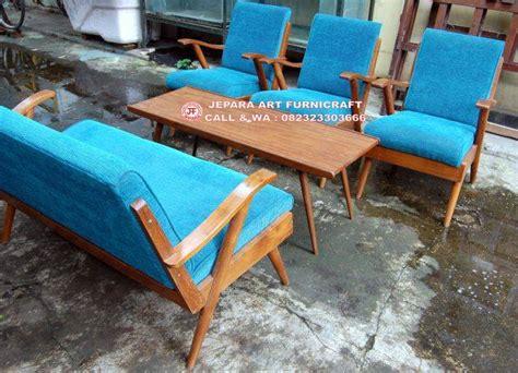 Kursi Tamu Jati Kursi Tamu Retro Kursi Tamu Minimalis recomended best seller kursi tamu jati vintage blue