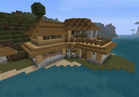 minecraft beach house small modern beach house v1 survival minecraft project