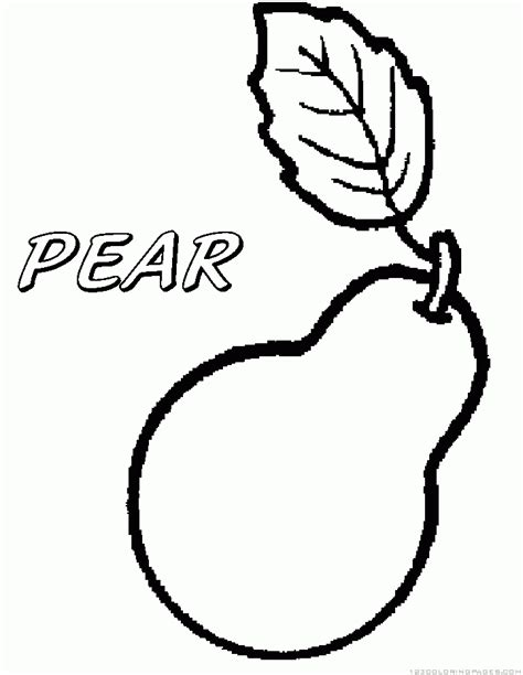 pear coloring www imgkid com the image kid has it