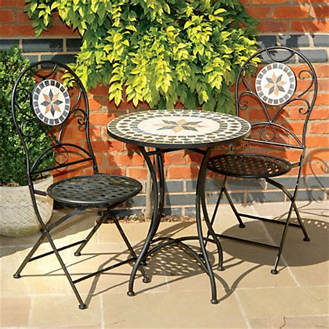 Homebase Bistro Table Tuscany 2 Seater Metal Bistro Set