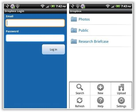 dropbox online login dropbox for android makes file synching simple fun review