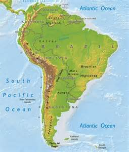 south america map landforms map of south america landforms