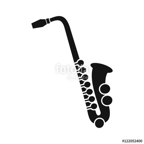 saxophone icon quot saxophone icon in simple style on a white background