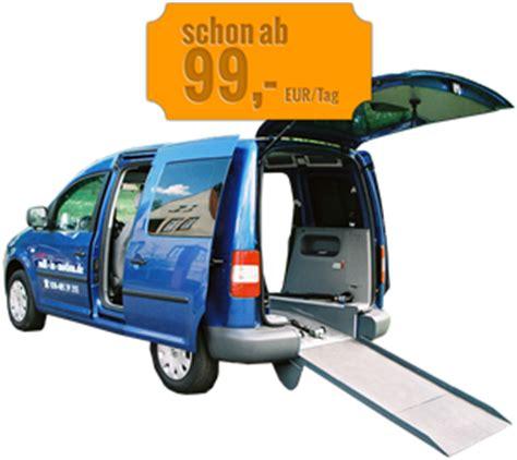 Rollstuhlgerechtes Auto Mieten by Rollstuhlgerechte Mietwagen Berlin Rolli In Motion
