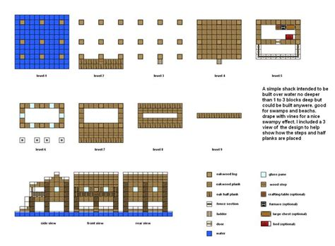 minecraft house floor plans minecraft floorplans sw fishing shack by falcon01 deviantart com on deviantart good ideas