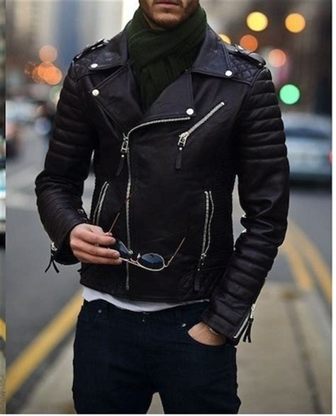 Jaket Variasi Fleech Jaket Bomber Korea mens biker leather jacket mens fashion black motorcycle