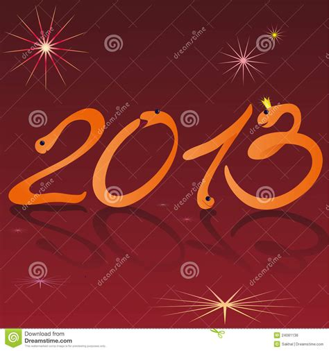 new year symbols snake snakes and symbols of 2013 new year on the w vector