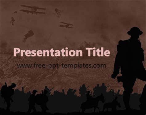 Wwi Ppt Template Free Powerpoint Templates World War 2 Powerpoint Template