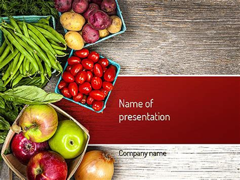 Fruit And Veg Powerpoint Template Backgrounds 11252 Poweredtemplate Com Vegetarian Presentation Template