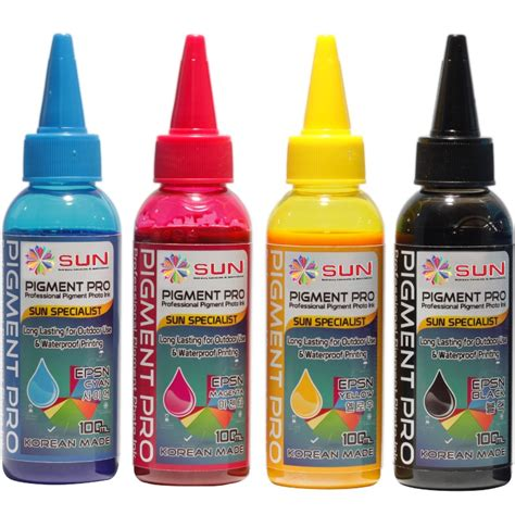 Tinta Stempel 5 Cc 100 Cc Dan 1 Kg tinta pigmen pro ink 100 ml sun homedia