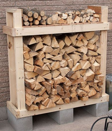 diy firewood rack cinder blocks built a firewood rack firewood storage plans