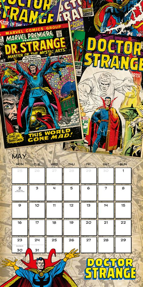 marvel schedule marvel retro classics calendars 2018 on abposters