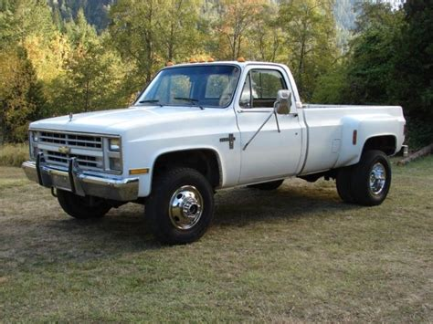 1986 Chevy K30, 4x4 1 ton pickup truck Dually Diesel, GMC 3500 Classic Chevrolet C/K Pickup