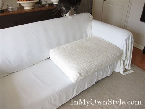 how to make a sofa cover how to cover a chair or sofa with a loose fit slipcover