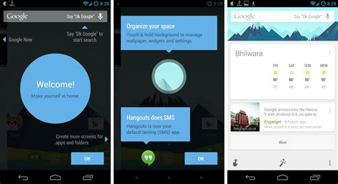 android launcher apk home android 4 4 launcher apk and new now with ok hotword