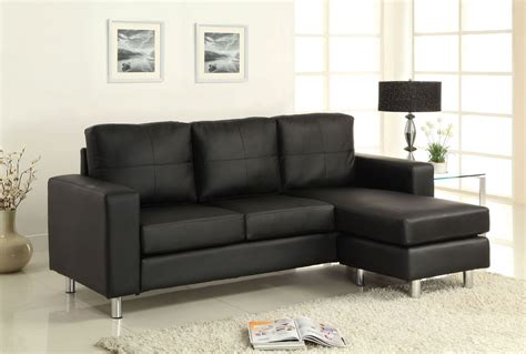 furniture of america sofa avon black leatherette sectional from furniture of america