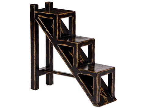 uttermost asher black accent table uttermost asher 10 5 x 32 rectangular black stepped accent