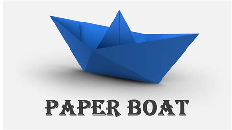 How To Make A Easy Paper Boat - how to make a paper boat origami fast easy