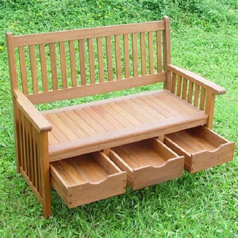 garden benches with storage hardwood garden bench with storage drawers home design