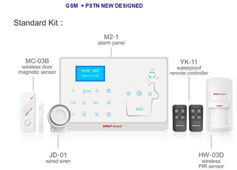 most advanced gsm pstn wireless home security burglar