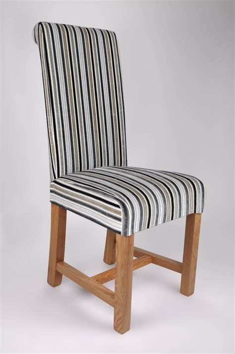striped dining room chairs brown striped fabric dining chairs chairs seating