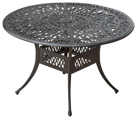 48 patio table rosedown 48 inch cast aluminum patio dining table contemporary outdoor dining tables