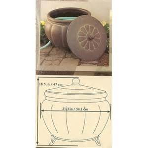 garden hose pot with lid