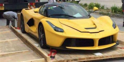 ferrari yellow paint ferrari la ferrari in yellow paint was delivered in