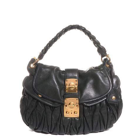 Miu Miu Coffer Nappa Matelasse Bag by Miu Miu Nappa Matelasse Coffer Hobo Bosco 111531