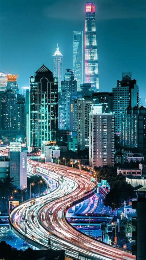 views  city  night  xiaomi redmi  wallpaper