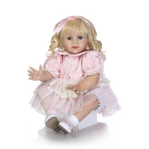 Langseng Nasi 60cm Jumbo Size lovely pink princess doll reborn large size 60cm silicone reborn dolls for children gift