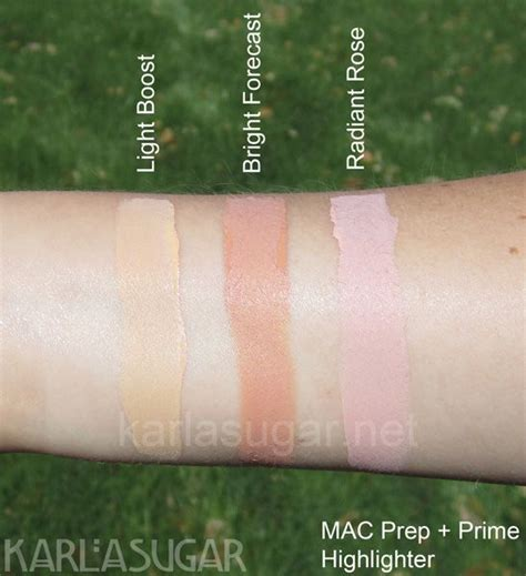 Mac Prep And Prime Highlighter mac prep and prime highlighter light boost bright
