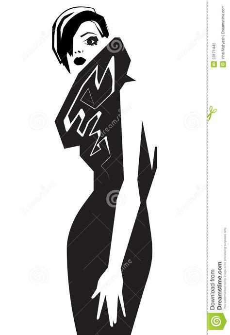 fashion illustration vector fashion model scetch vector illustration royalty free