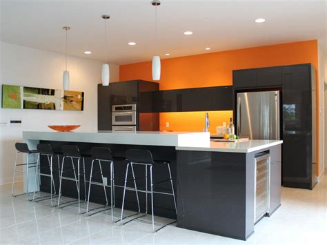 orange paint colors for kitchens pictures amp ideas from hgtv modern kitchen