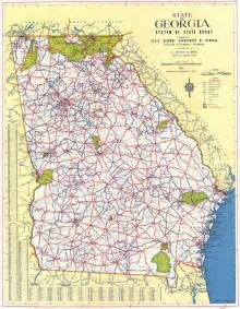 georgias map maps 1952 map georgiainfo