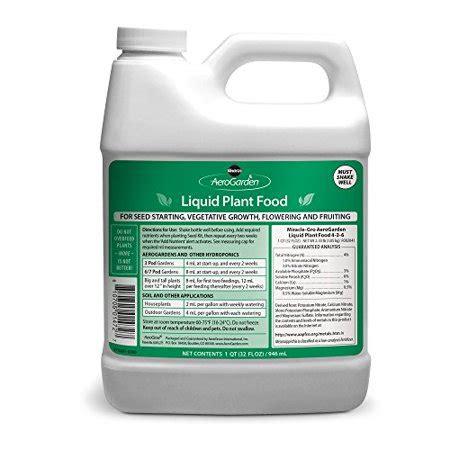 miracle gro aerogarden liquid nutrients  liter