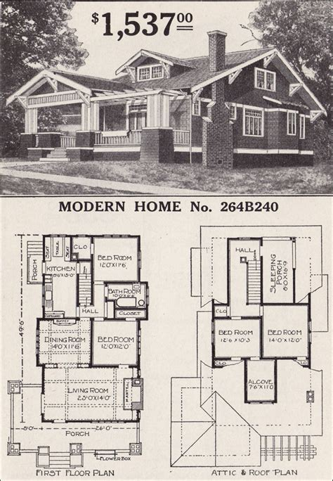 sears floor plans craftsman style bungalow house plans