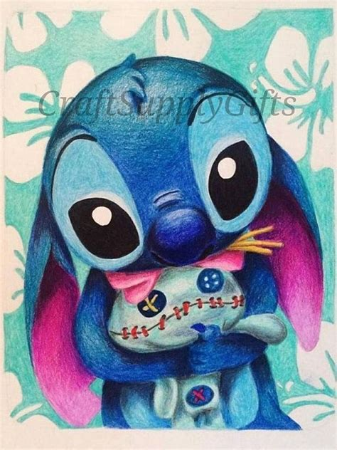 stitches painting 5d diy painting disney stitch mosaic cross stitch