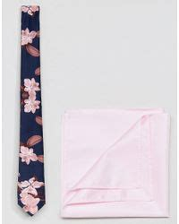 Navy Blue Rayleigh Medium Square Slim Backpack lyst asos navy floral tie pink pocket square in blue