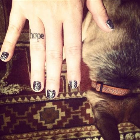 tattoo finger hope brandi cyrus tattoos steal her style