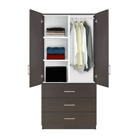 armoire with drawers and shelves alta wardrobe armoire 3 drawer wardrobe shelves