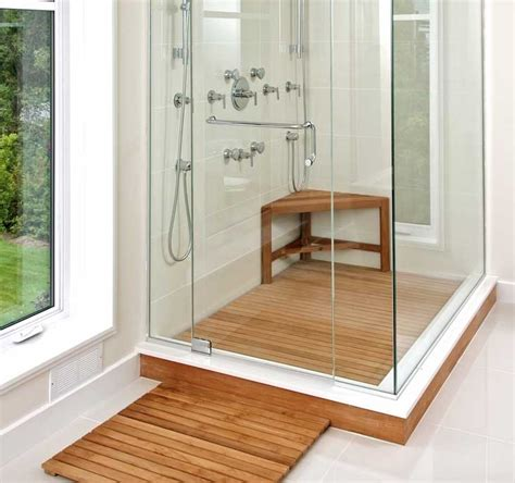 teak shower door teak shower floor design ideas home interior exterior