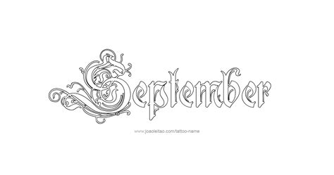 september tattoos designs september month name designs page 4 of 5