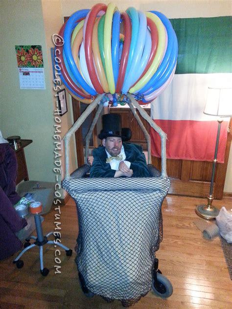 crowd rousing wizard  oz   hot air balloon wheelchair