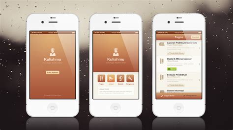 design mobile app ui kuliahmu app mobile ui ux design by faizalqurni on