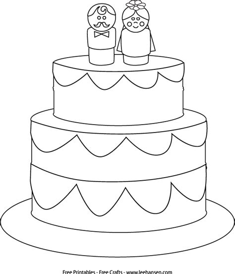 coloring page wedding cake cute wedding cake free printable coloring crayons at table