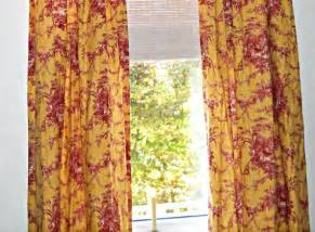 Waverly Toile Curtains 2 Pairs Waverly La Ferme Toile Drapes And Valance Sets